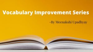 Vocabulary Improvement Series