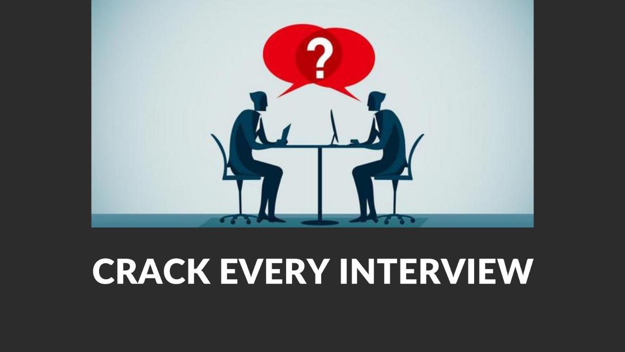 Crack Evey Interview Course